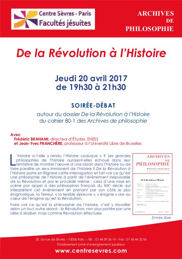 Soirée débat du 20 avril 2017 - 19h30