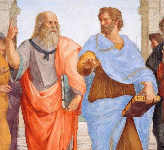 Platon et Aristote peint par Raphaël